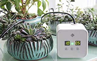 sPlant DIY Micro Auto Watering Timer Drip Irrigation Kits,30-Day Watering Interval Time Setting,Irrigation Equipment,Self-Watering Stakes,Vacation Plant Watering System