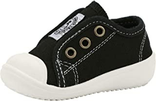 ANYUETE Boy's and Girl's Canvas Sneakers Casual Slip-on Walking Shoes