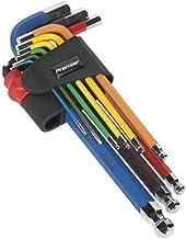 SEALEY ak7190 Zeskantige kogelkop pinsleutel set 9st kleurrijke lang metrisch