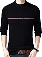 Men's Long Sleeve Pullover Slim Solid Color Sweater Men's Round Neck Casual Sweatshirt Jacket Knit Top