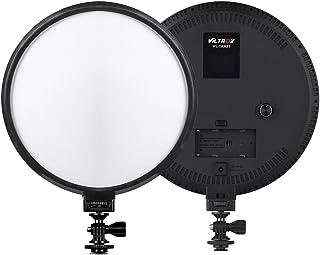 Viltrox VL-500T Ultrathin Bi-Color Dimmable 9 Inch Circular LED Video Light 3300K-5600K CRI 95+ Max. Power 25W for Portrait Children Macro Still Life Photography