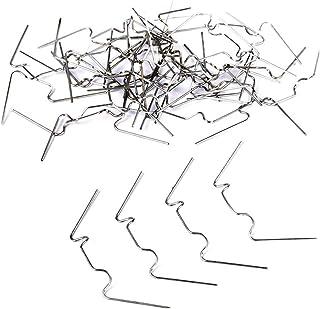 Abrazaderas de invernadero, 100 piezas de acero inoxidable, clips de acristalamiento verdes, tipo W, abrazaderas de vidrio para invernadero, universales, aplicables y antiinclemencias meteorológicas