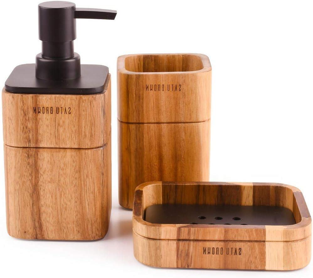 LunaLife Bathroom Accessories Set Classic 3 Ensemble Topics on TV Bath Includes Piece