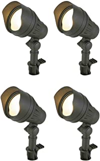 Hampton Bay Low-Voltage LED Black Outdoor Flood Light (4-Pack)