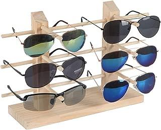 heacker Sólido Marco del Bastidor de Madera de Gafas de Sol 2 Filas de Cristal exhibición de la joyería del escaparate del Soporte del sostenedor del Organizador