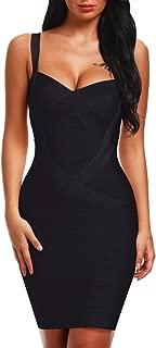 Women's Spaghetti Strap Bodycon Bandage Dress BQ1636-1