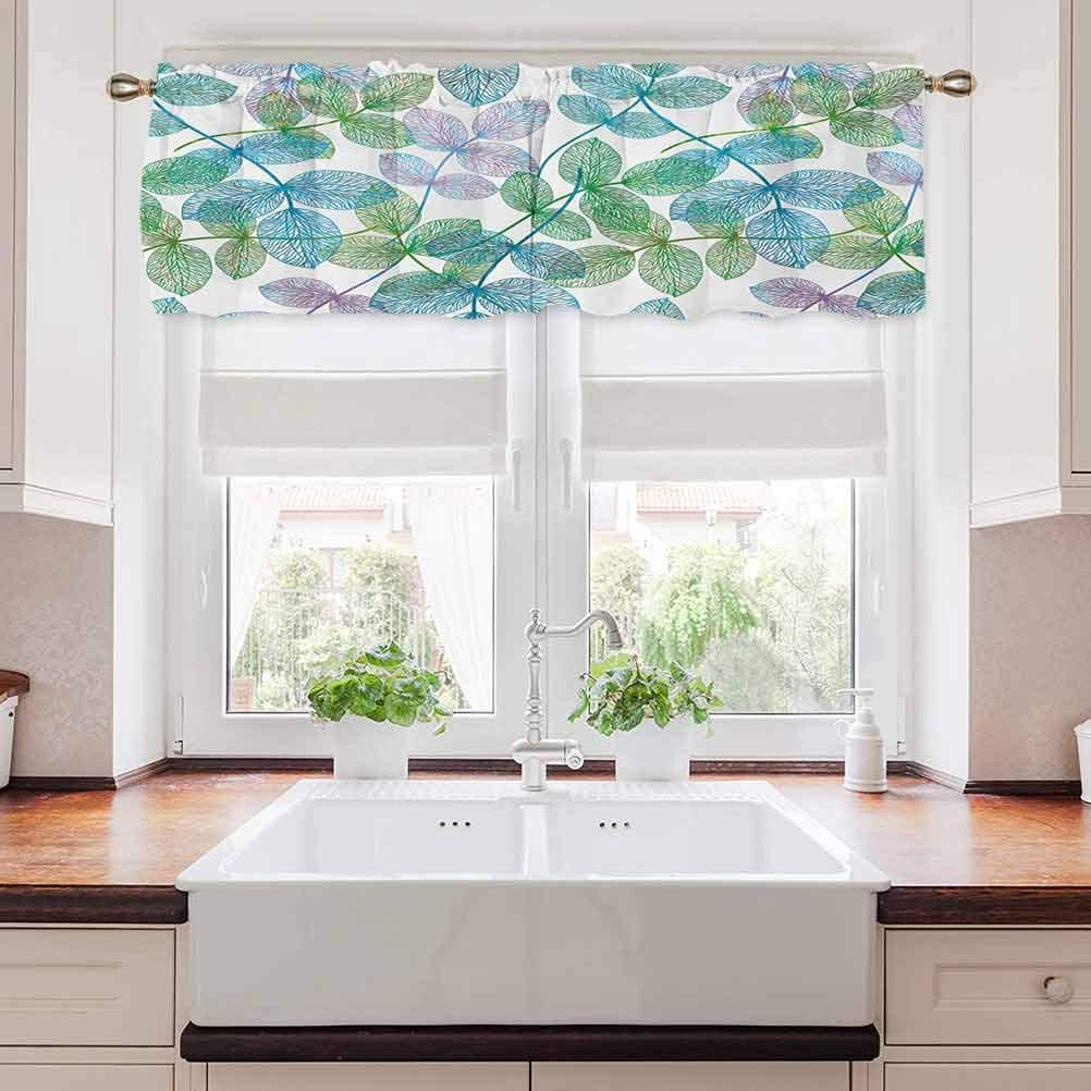 carmaxs Floral Bedroom Blackout Max 83% OFF Valance Flowers Tier Leaves Recommended Ivy