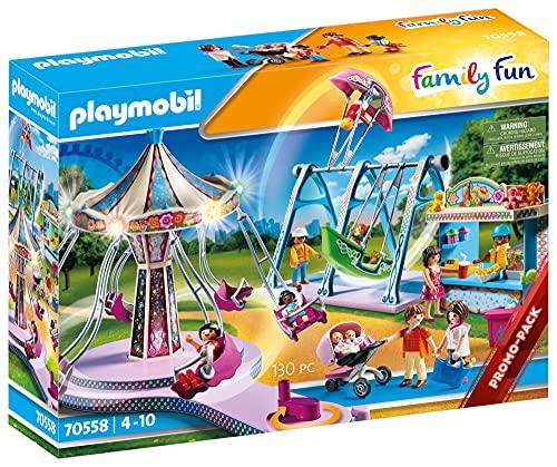 PLAYMOBIL Family Fun 70558 - Lunapark, con luci, dai 4 ai 10 Anni