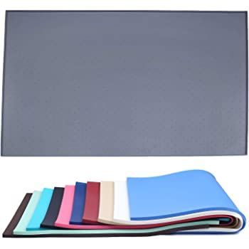 """Vivaglory Pet Food Mat Large 24"""" L x 16"""" W or Small 19"""" L x 12"""" W Waterproof Non-Slip Food Grade Silicone Mat Anti-Messy Design for Puppy Kitty Dog Cat Small Medium Large Animals"""
