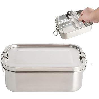 O-Kinee apta para lavavajillas con 3 compartimentos Fiambrera de acero inoxidable