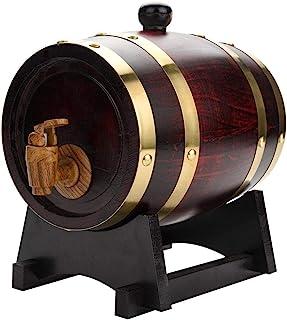 Casiers à vin Dispositif à vin Tonneau en chêne, 1,5L Bois Vintage Bois de chêne Tonneau à vin Tonneau de Stockage Tonneau...