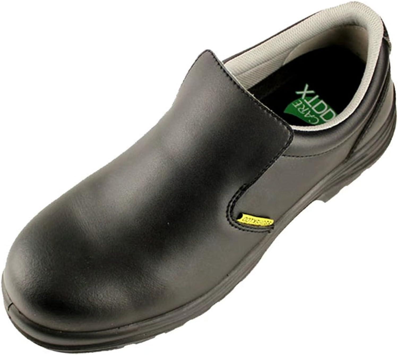 DDTX Mans Smash -Quarter Work skor SRC Grade Grade Grade Slip Resistent Chef skor svart  tillverkare direkt leverans