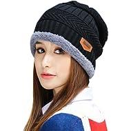8e795ff181d1e6 HINDAWI Womens Slouchy Beanie Winter Hat Knit Warm Snow Ski Skull Cap