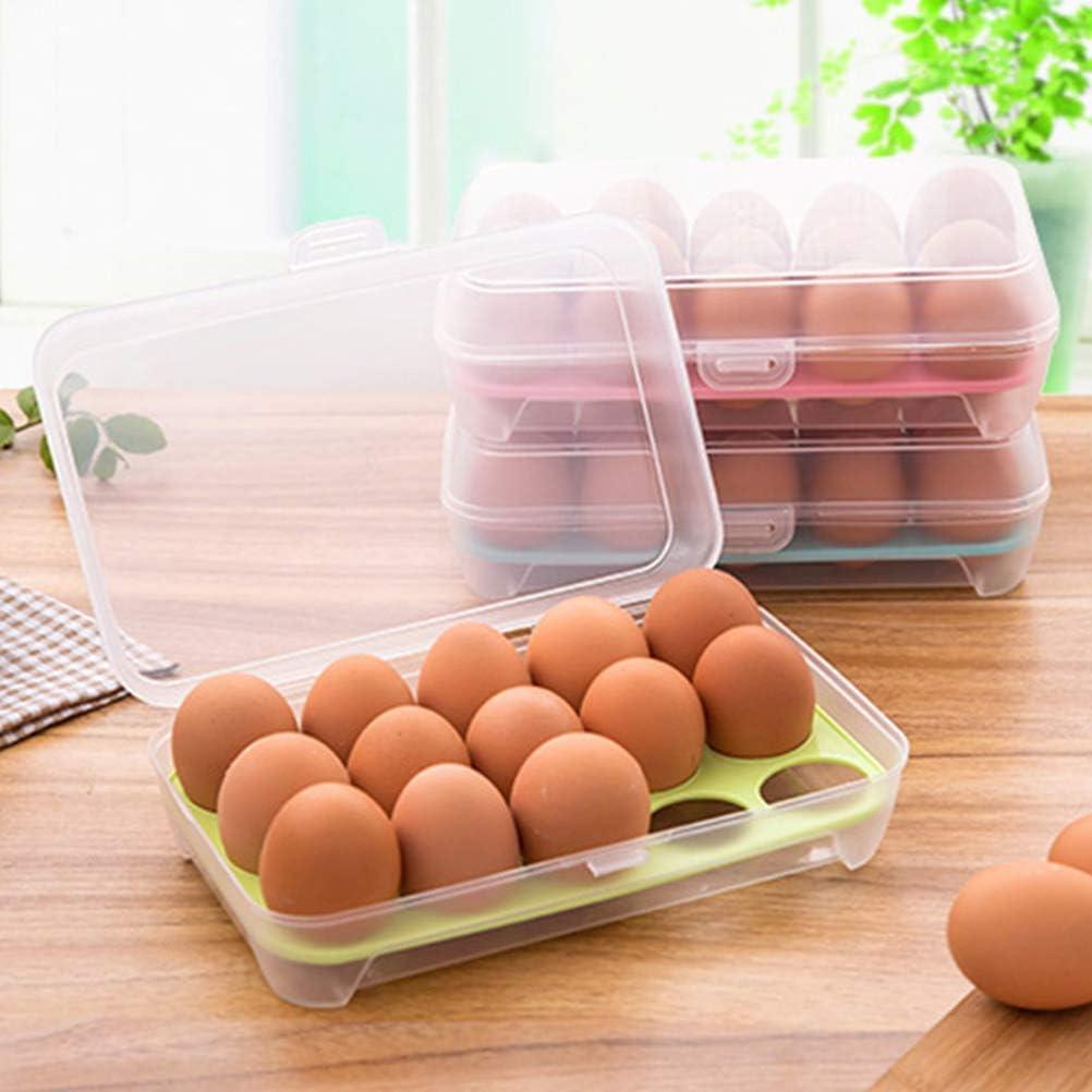 enorme huevera de pl/ástico huevera para nevera Abanicos caja de almacenamiento contenedor para huevos transparente clasificador caja multifunci/ón caja de transporte soporte para huevos