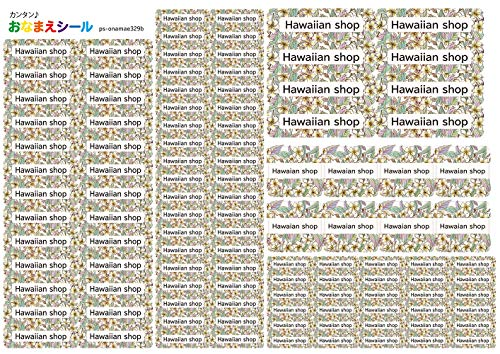 お名前シール 耐水 5種類 110枚 防水 ネームシール シールラベル 保育園 幼稚園 小学校 入園準備 入学準備 ハワイアン トロピカル 花柄 フラワー プルメリア