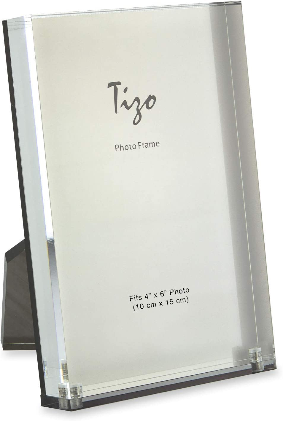 TIZO Vertical Our shop most popular 4x6 Lucite trend rank Picture Frame Cle Inch Durable Thick 1