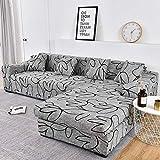 WXQY Fundas de impresión 3D Fundas de sofá elásticas elásticas Protección para Mascotas Funda de sofá Esquina en Forma de L Funda de sofá Todo Incluido A17 4 plazas