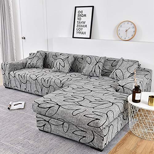 WXQY Fundas de impresión 3D Fundas elásticas para sofá Funda de sofá elástica con protección para Mascotas Funda de sofá con Esquina en Forma de L Funda de sofá con Todo Incluido A17 de 3 plazas