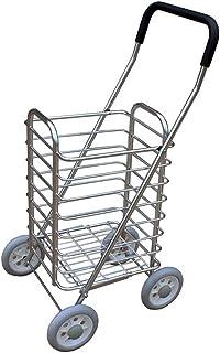 LQBDJPYS Lightweight Shopping Trolley Mobility Cart 4 Wheel Folding Folding Luggage Bags