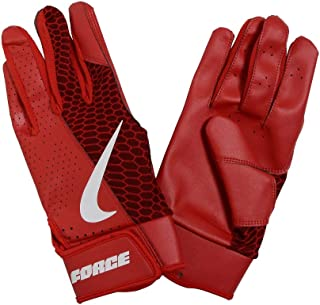 red nike leather gloves