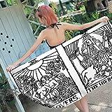 KYLN Tarot Toalla de Playa Toalla de Microfibra Piscina para Adultos Deportes al Aire Libre Picnic Travel Towel-11_150 * 180cm