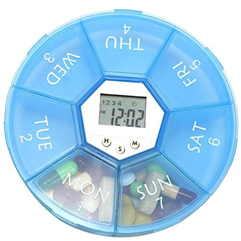 Yuniroom Digital Pill Organizer Storage Box Medicine Alarm Reminder with 4 Groups Alarm Clock LED Backlight (Color : 02)