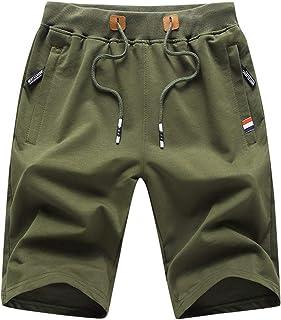 Mens Shorts Casual Workout Drawstring Shorts with Elastic...