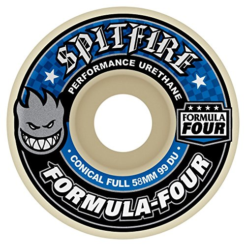 Spitfire Formula Four 99 Conical Full (Blue Print) Wheels-54 mm