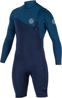 Rip Curl E Bomb Zip Free Entry 2/Long Sleeve Spring Wetsuit, Navy/Nav, Medium