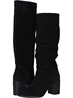 Frye madeline tall black oiled suede +