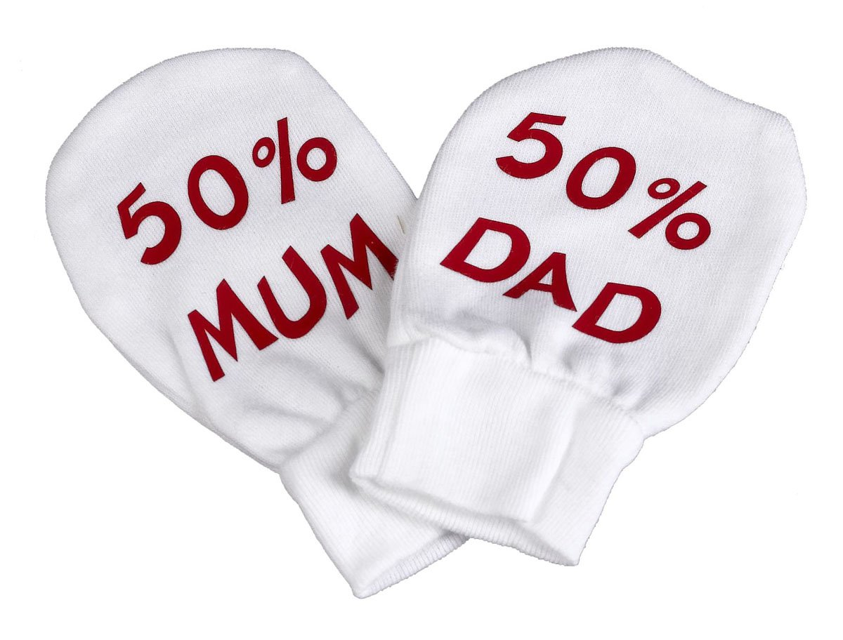 Spoilt Rotten - 50% Mum & 50% Dad 100% Organic Cotton Scratch Mittens