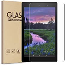 Fire HD 8 Screen Protector, HISSP High Definition Clear 9H Hardness Scratch Resistant..