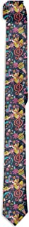 Men's Necktie Classic Rock N Roll Doodle Pattern Fashion Business Tie