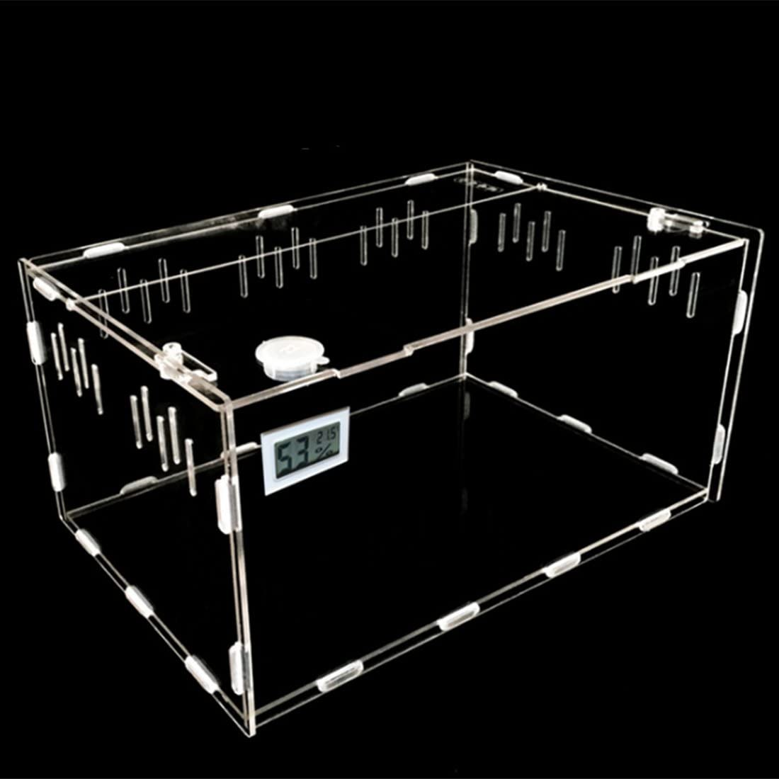 Petforu Aquarium Breeding Tank Luxury goods Acrylic with trust Feeding Box Reptile