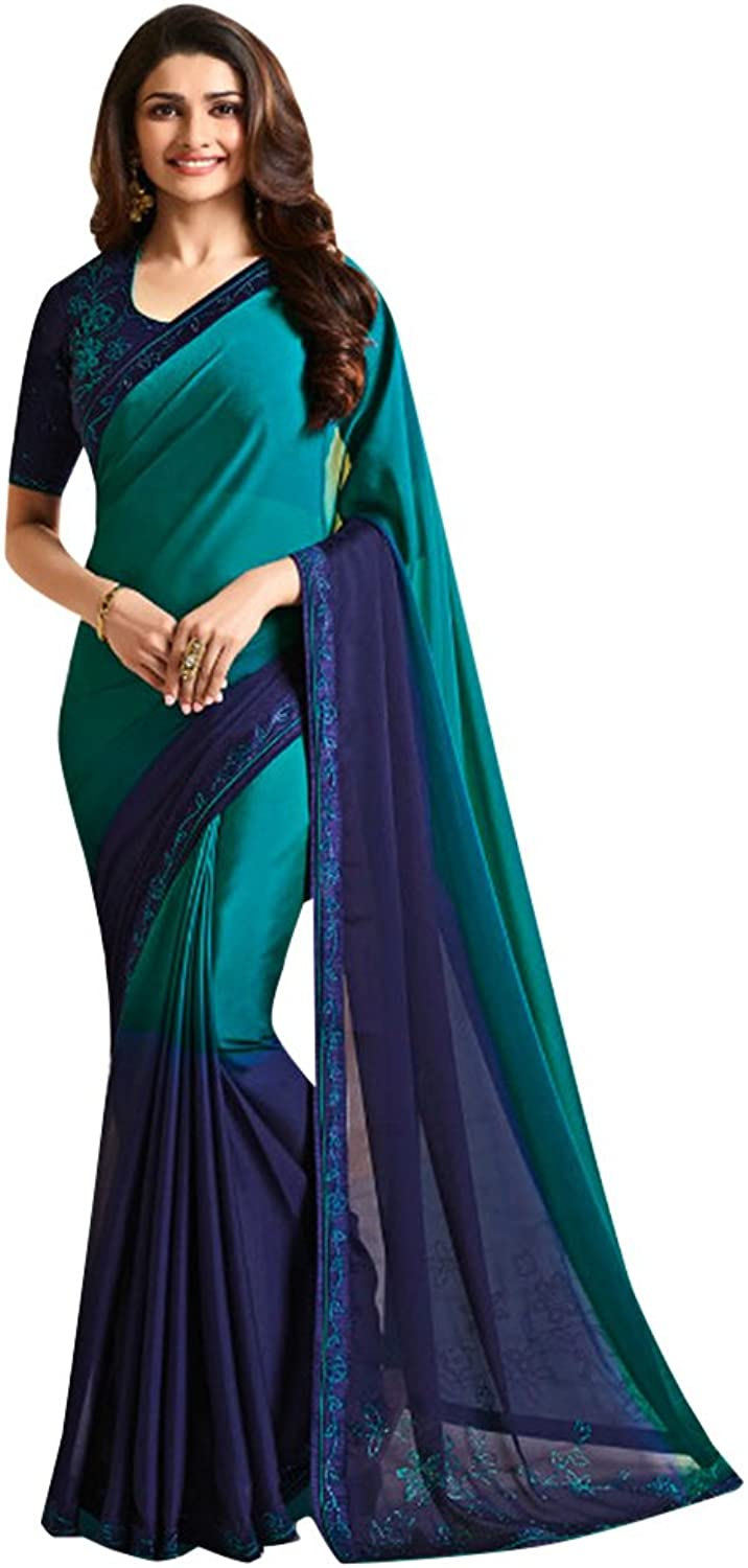 Designer Bollywood Saree Sari for Women Latest Indian Ethnic Collection Blouse Party Wear Festive Ceremony 936 11