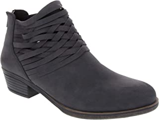 Sugar Women's Rhett Casual Boho Short Ankle Bootie with Criss Cross Straps Boot