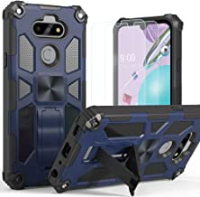 LG K31 Case with Screen Protector, LG K31 Case, Puxicu Military Grade Protective Phone Case with Car Mount Kickstand for L...