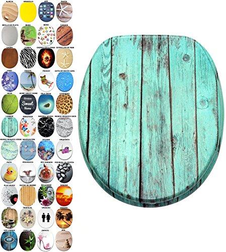 Asiento para inodoro de cierre suave, gran selección de atractivos asientos de inodoro con calidad superior y duradera de madera (Lumber)