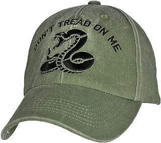 Don't Tread on Me Snake OD Green Adjustable Baseball Cap