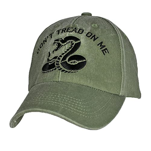 73fe27238962c Don t Tread on Me Snake OD Green Adjustable Baseball Cap