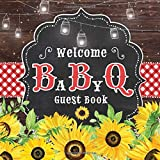 Welcome BaByQ Guest Book: BBQ Baby Shower Guestbook + Predictions + Gift Tracker Log + Scrapbooking Pages | Country Rustic Barbecue Theme | Sunflowers Red Gingham