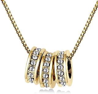 MESTIGE Women Crystal Golden Alma Necklace with Swarovski Crystals
