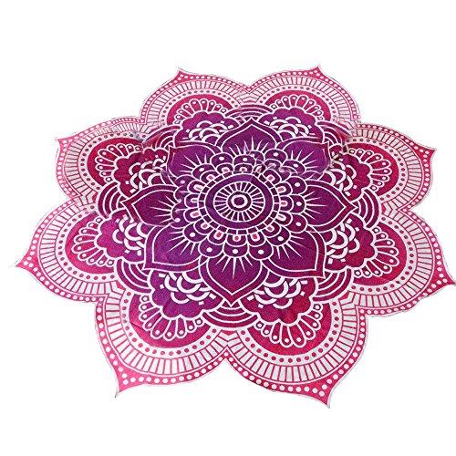 Eizur Mandala Teli Mare Telo Spiaggia Coperta Chiffon Beach Towel Beach Throw Stile Hippy Copriletto Arazzo Decorativo Tovaglia Pannello Yoga Tappeto Wall Tapestries (Verde/Rosso/Blu)