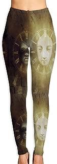 LeYue Women's Birth Life Death Mask Yoga Pants Activewear Workout Leggings Sports Pants