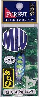 フォレスト(FOREST) ルアー MIUネイティブアワビ 4.2g厚板 No.08 スプーン