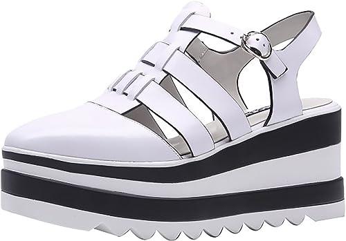 Calaier Femme Calxdh 8CM Compensé Boucle Sandales Chaussures