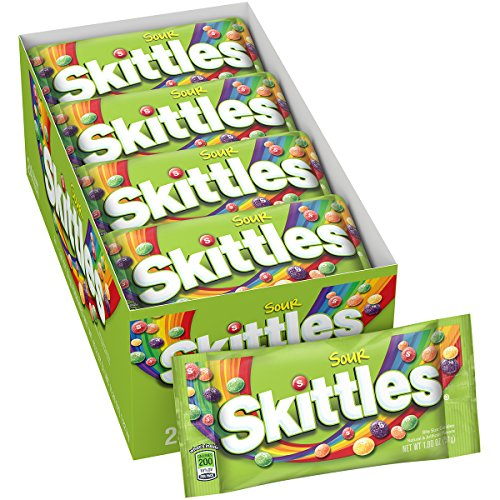Skittles Sour Candy, 1.8 Ounce (24 Single Packs) from Skittles