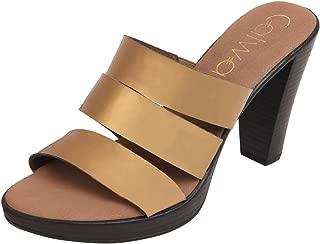 Catwalk Bronze Cone Heel Sandals