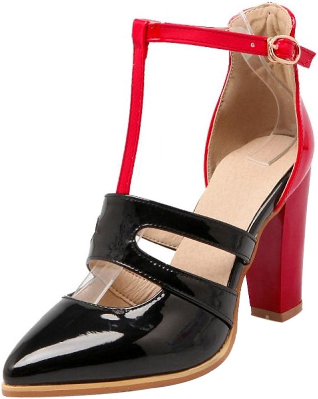 RizaBina Women Strap Block Heel Pumps
