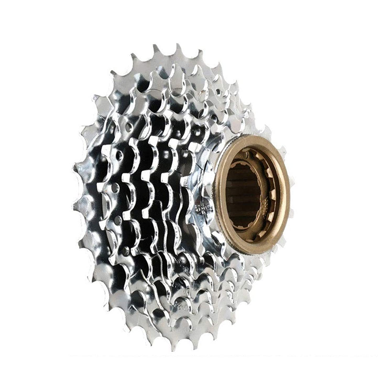 書き込みハンドブック安心させるフリーホイール マウンテンバイク21速ロータリーフライホイールシフトタワーホイール7 7速フライホイール マウンテンバイク、ロードバイク、MTB、BMX、SRAM、Shimano用 (色 : 銀, サイズ : 7 speed)